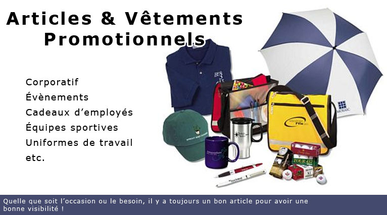 Articles & Vêtements Promotionnels