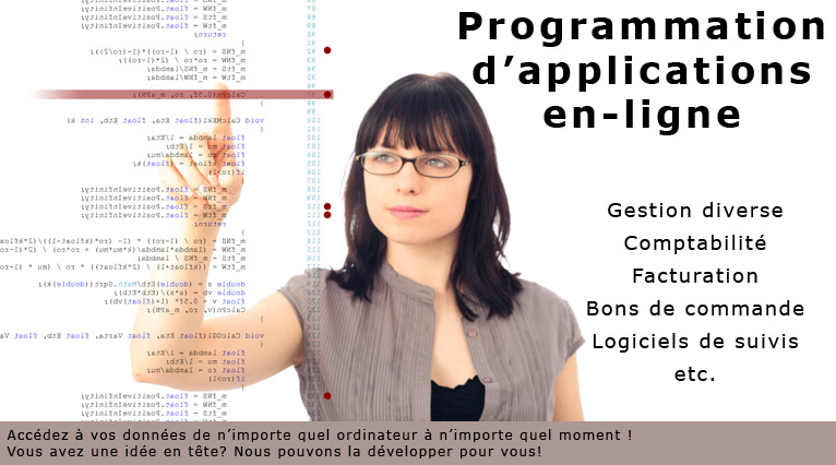 Programmation d'applications en-ligne